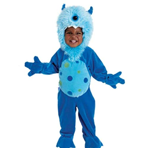 KoalaKids kleines blaues Monster Baby Fasching Halloween Karneval Kostüm Overall ()