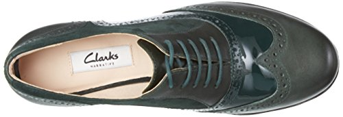 Clarks Hamble Oak, Derby Femme Vert (Dark Green Combi)