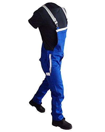 Schweißerhose Schweißerschutzhose Arbeitshose Arbeitslatzhose Berufshose flammfest blau auch in ÜBERGRÖßEN (58)