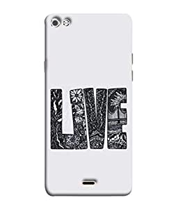 Fuson Designer Back Case Cover for Micromax Canvas Sliver 5 Q450 :: Silver Q450 (Love heart Girl Valentine Three Hearts)