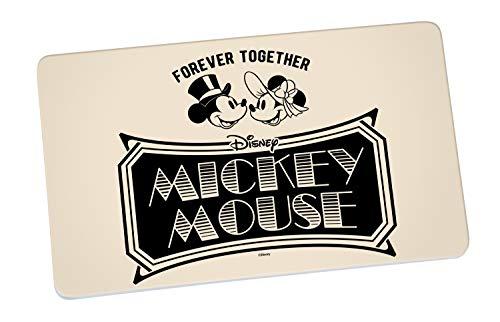 Disney Mickey Mouse 13759 Disney Mickey & Minnie Vintage Forever Together Brotbrett, Frühstücksbrett, Frühstücksbrettchen, Brett, Brettchen, Melamin, Beige