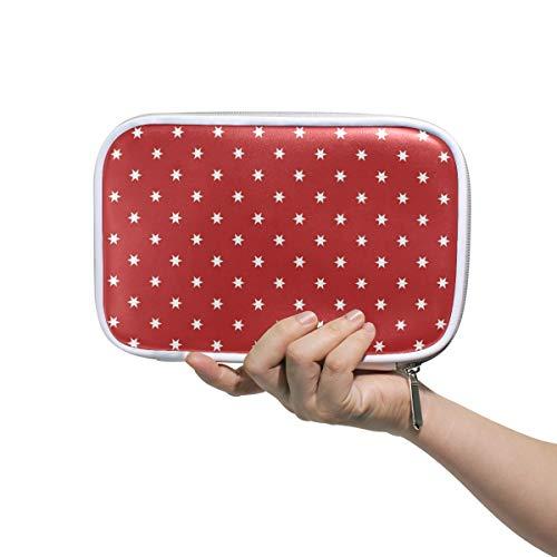 hen Patriotische Sterne, große Kapazität, Stifttasche, Make-up-Tasche, langlebig, ideal als Geschenk für Studenten ()
