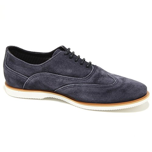 0386N francesina HOGAN scarpe uomo sneaker shoes men blu with vintange effect blu denim