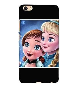 For Vivo V5 two cute girl ( two cute girl, girl, beautiful girl, cute girl ) Printed Designer Back Case Cover By CHAPLOOS
