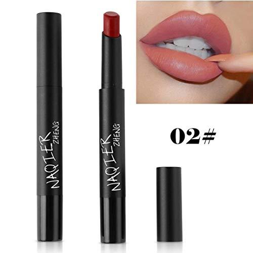 Missoul 8 Colors Cosmetics Waterproof Women Velvet Matte Lipstick Lip Gloss Makeup (B) -