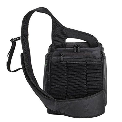 QHGstore DSLR Digitale Sling Kameratasche Schultertasche Rucksack für Canon Nikon Grün