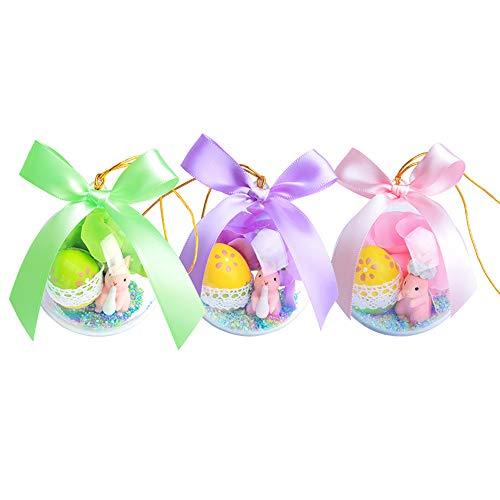SXA Uova di Pasqua di plastica Crystal Ball Bunny Surprise Eggs per Easter Hunt Gioco Basket Fillers Kids Gift Party Decor Hanging Decoration