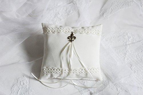Ringkissen Hochzeit 'Fleur de Lys' Unikat handmade