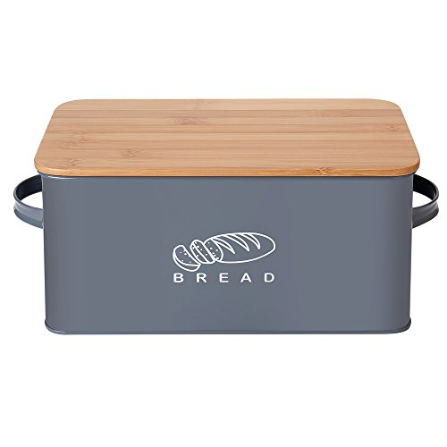 Este recipiente para el pan es un elemento que aporta decoración a la cocina, pero también es una de las piezas más útiles de la colección. En primer lugar, la bandeja de pan mantendrá su pan fresco por más tiempo. La tapa de madera también sirve com...