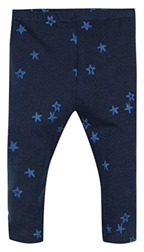 Z Baby-Mädchen Legging Maille Imprimé Cœurs Pailletés Blau (Marineblau), 98