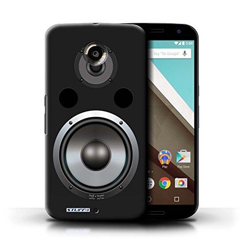 Kobalt® Imprimé Etui / Coque pour Motorola Nexus 6 / Moniteur Studio conception / Série Haut-Parleur dessin Hifi