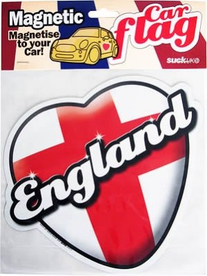 Autoflagge, England, magnetisch, Herzform,
