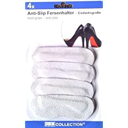 JES COLLECTION® Anti-Slip Fersenhalter / Fersenschutz / Fersenpolster für den optimalen Halt im Schuh - 4 Stück - Universalgröße - selbsthaftend