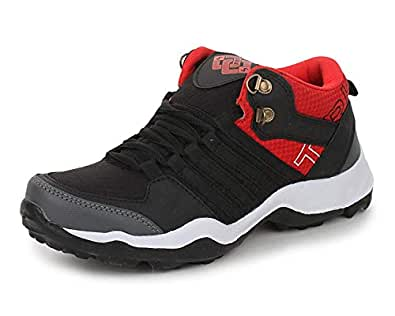 TRASE Boy's Black Synthetic Running Shoes 2C IND/UK/AGE 8-9 YEARS