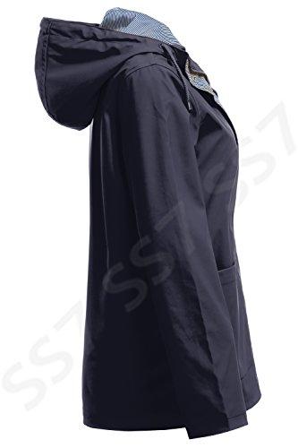 NEU SS7 Damen Wasserdichter Regenmantel, Marineblau, Gelb, Größen 18 to 24 Marine