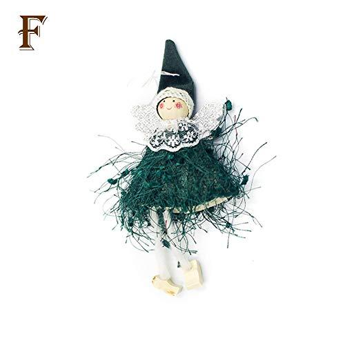 Coseyil Weihnachtsdekoration Weihnachtsbaum-Puppe Verziert niedliche Wolle-Engels-Puppen-Spielwaren Für Inneneinrichtung