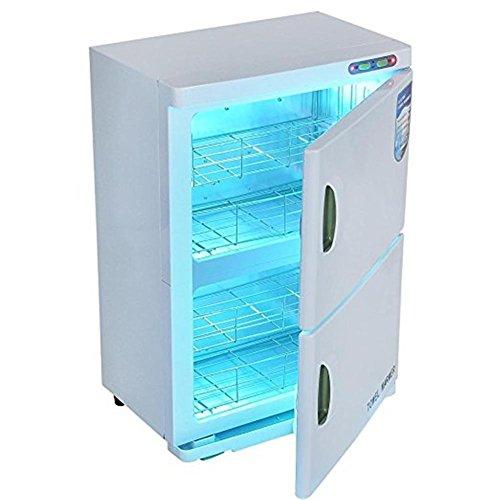 2 en 1 Esterilizador toalla 46L UV Caliente Toalla calentador Doble...