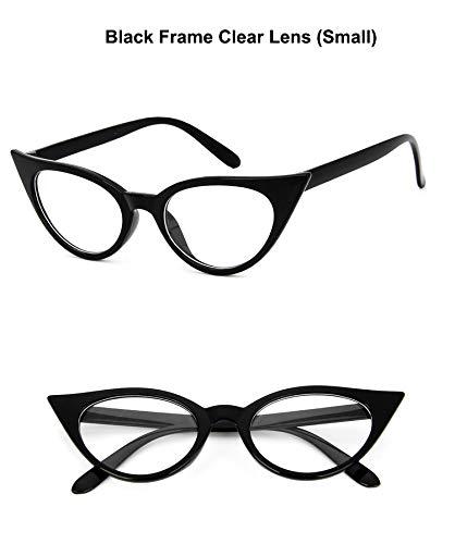 FANGUGF Flache Gläser Sonnenbrille Brillengestell Transparente Linse Brille Reine Optische Brille Frauen