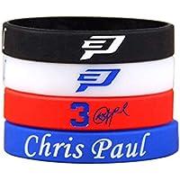 Lorh's store NBA Basketball Chris Paul Armband Nummer 3 Silikon Sport Schweißbänder 2 Pcs