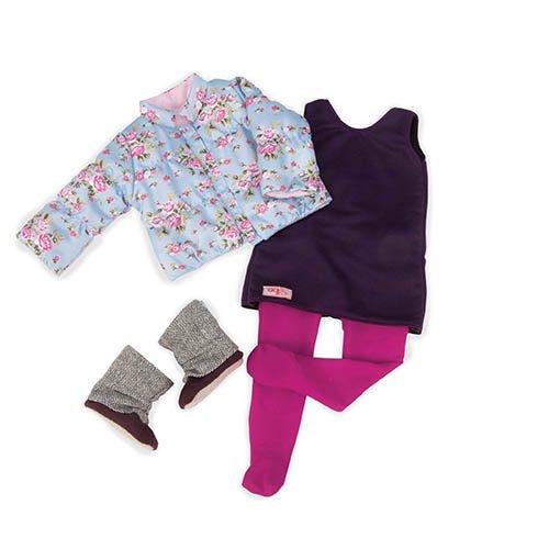 22Z - OG - Jacke mit Blumenmuster und Minikleid ()