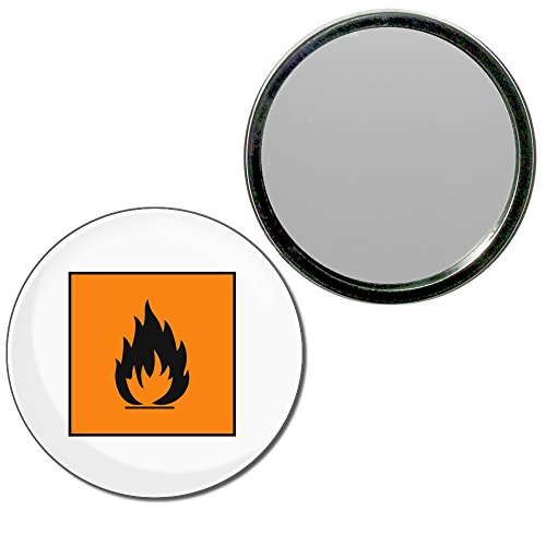 Flammable - 55mm ronde de miroir compact