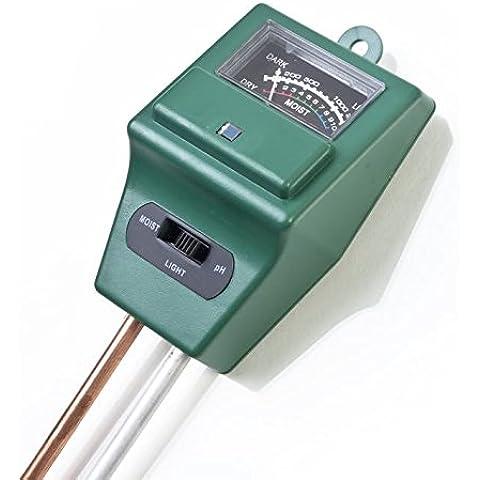 Goliton® 3 in 1 suolo Analisi Tester di igrometro / pH / pH Esposimetro Suolo Moisture Meter