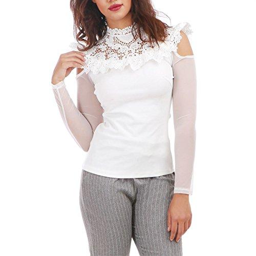 La Modeuse Blouse Femme épaules Dénudées Blanc