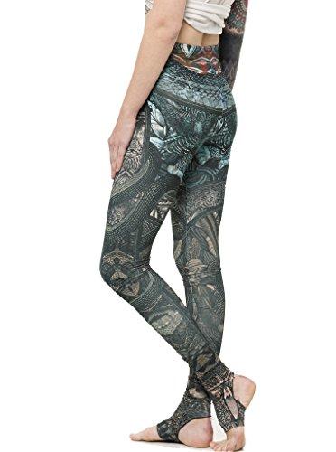Leggins estampados Reptilorama - Mallas mujer de colores con estribo y estampado de serpientes, ropa urbana - Talla S