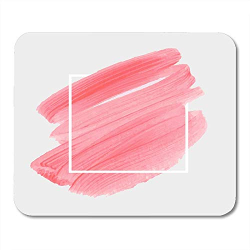Deglogse Gaming-Mauspad-Matte, Beauty Pink Blush Abstract Brush Design Over Perfect Watercolor for Headline and Sale White Acrylic Candy Mouse Pad,Desktop Computers
