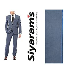 Siyarams Self Design Light Blue Suit Fabric 1Pc 3.25 Meter.This Product not include Gift box.
