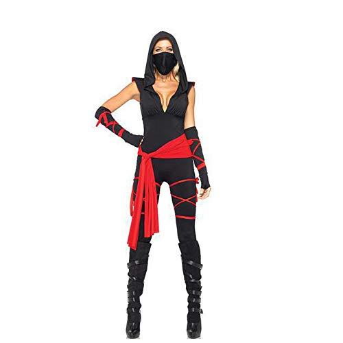 Kostüm Mut Anime - Home-soft Halloween Cosplay Set, Schwarz Sexy Assassinin Kostüm, Anime Ninja Kostümparty Kostüm,Schwarz,M