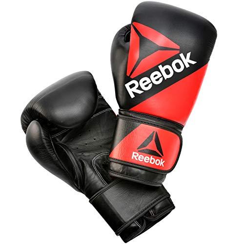 Reebok Guantes de Boxeo de Cuero - Rojo/Negro