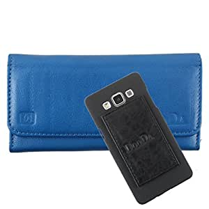 DooDa Genuine Leather Wallet Flip Case Cover With Card & ID Slots For Karbonn S5+ Titanium