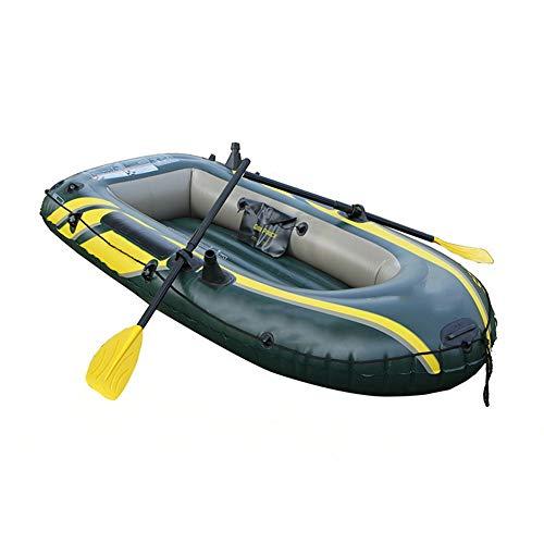 ZOUBIAG Schlauchboot Mit 2 Paddeln Und Hochleistungspumpe for Verschiedene Wasserbauliche Arbeiten (Color : Green)