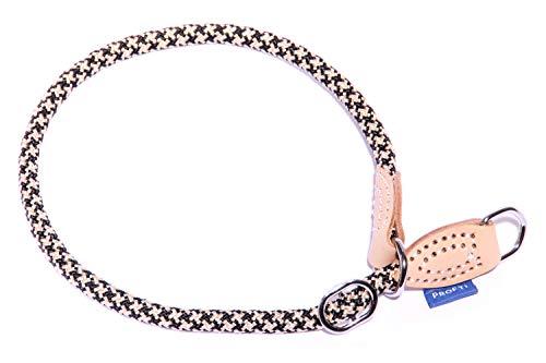 PROFTI Halsband aus Nylon für Hunde, mit Zugstopp, große/kleine Hunde, 1,0x60cm