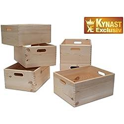 6-Set Allzweck Box 40x30x19 cm Kiste Holz stapelbar 6 Stück