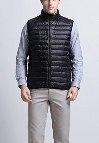 Panegy - Homme Veste Sans Manches - Doudoune Gilet de Sport Ultra-léger zippé Matelassée en Hover au Chaud - Noir/Gris/Bleu - FR S/M/L/XL Noir