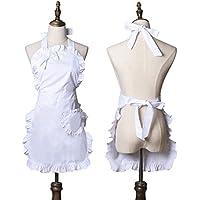 Cute Girls Bowknot dama Cocina Restaurante para tartas delantal Fashion de la mujer gracioso delantales (color blanco)