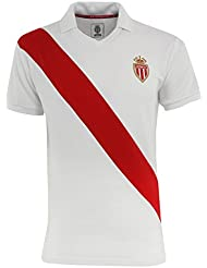 T-shirt polo Rétro AS MONACO - Collection officielle ASM FC - Football -Taille adulte homme