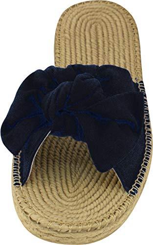 Siebi's Bow Strand-und Badeschuh Pantolette in Bastoptik für Damen und Extra Leicht: Größe: 39 | Farbe: Schwarz