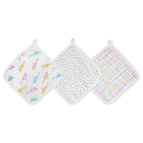 aden + anais Spring Awakening 3-Packaden Washcloths