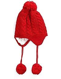 Autunno e inverno Baby Plus velluto paraorecchie cappelli capelli Ball Caps  bambini maglia cappelli 1deea3628efe