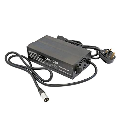 Strident 5 amp Charger 3 Pin Suitable for Most Large 8 Mph Scooters Including Brands Such as Rascal, Shoprider, Pride, Invacare, Kymco Plus Many More