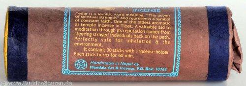 BUDDHAFIGUREN Bâtonnet d'encens tibétain - Tibetan Cedarwood Incense