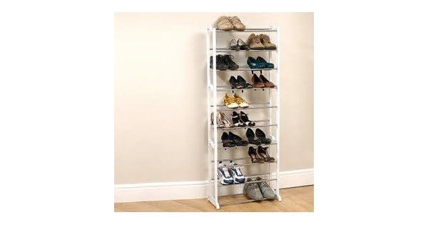 lightweight shoe storage rack 30 pair capacity amazoncouk kitchen u0026 home