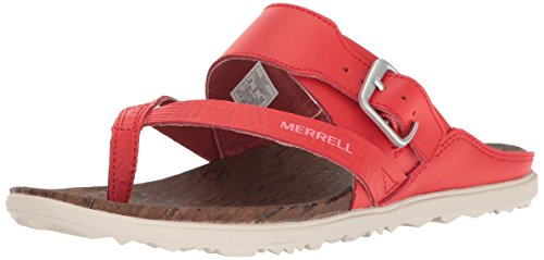 Merrell Around Town Thong Buckle Print, Sandali Donna Rosso (Firey Red)