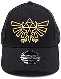 The Legend of Zelda Cap Gold Logo Curved Bill Cap Black 6e883cd6b9d1
