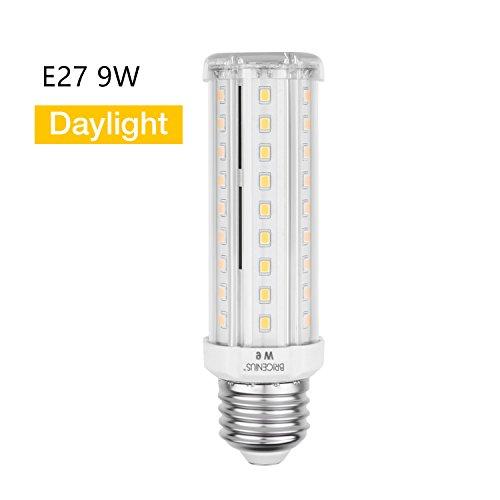 E27 LED Beleuchtung LED Leuchtmittel Maiskolben Ersatz 70W KaltesWeiß Energiesparlampe 9W für Wandlampen Tischlampen Deckenlampen Küche (6500K) [Energieklasse A++] - 9w-6500k Glühbirne