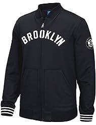 "Brooklyn Nets Adidas NBA ""Originals"" Men's Performance Full Zip Track Jacket Veste"