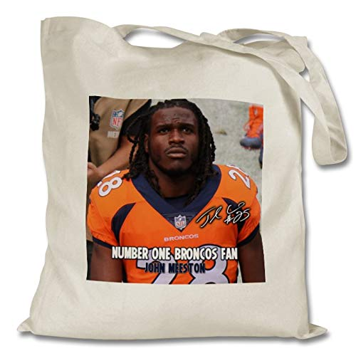 l Charles - Denver Broncos - NFL 1 Personalised Printed Tote Bag - Shopping - Shoulder - Tote Bag - Autographed Print (with Personalised Message) ()